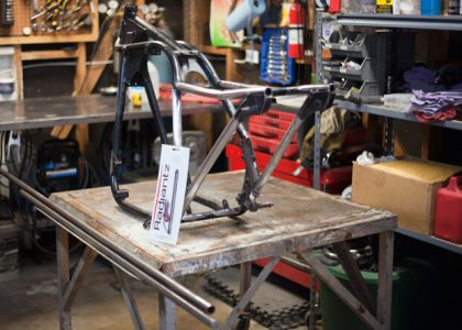 """I started out with the frame, a few raw materials (1"""" tube and 1"""" solid round stock) and the tail light provided by Charles."""
